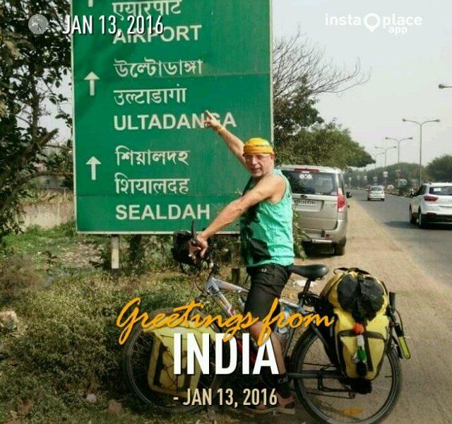 Volta ao mundo em bicicleta por um português