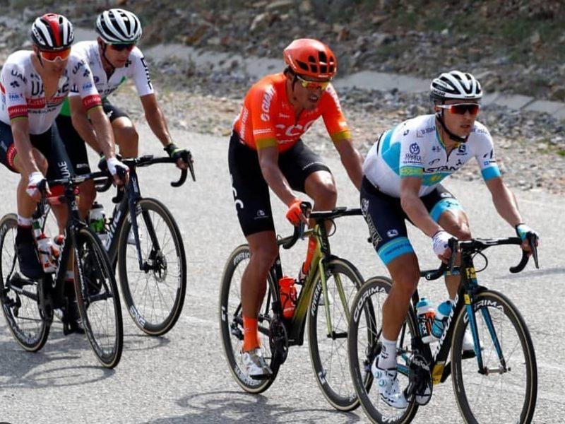 Rui Costa perto da vitória na terceira etapa do Tour de Omã.