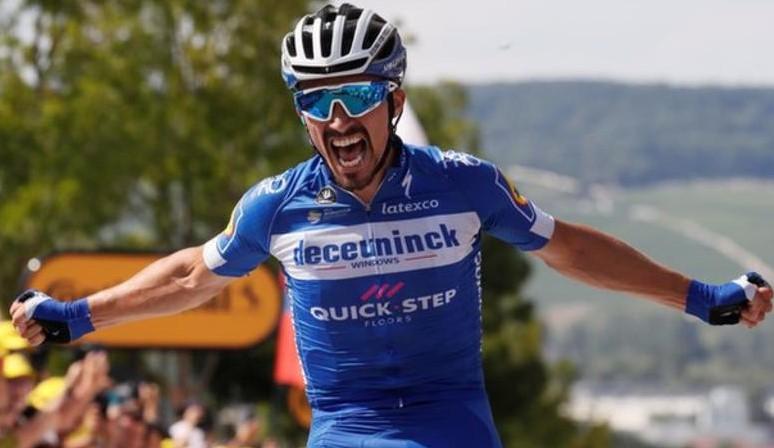 """Tour de França – À Etapa 3 Alaphilippe dá """"Show"""" e coloca-se de amarelo"""
