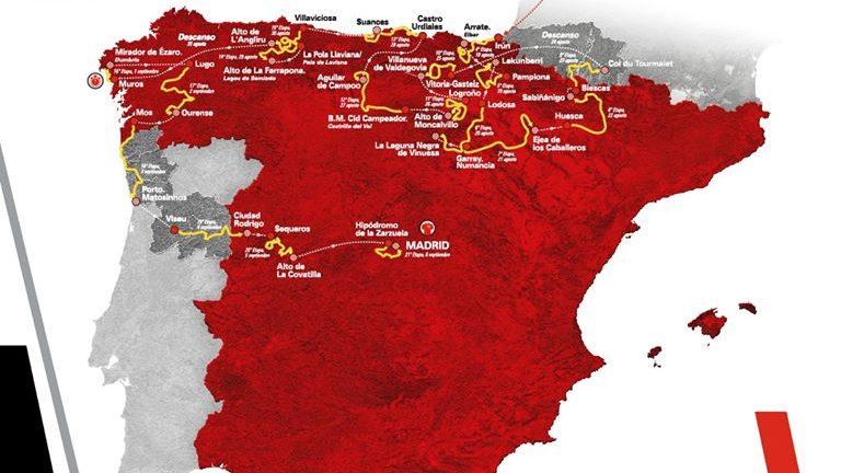 Volta a Espanha 2020 terá duas etapas em Portugal