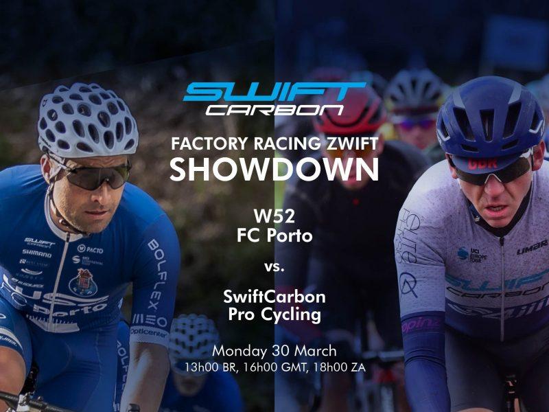Duas equipas escalão Continental UCI da SwiftCarbon num duelo virtual